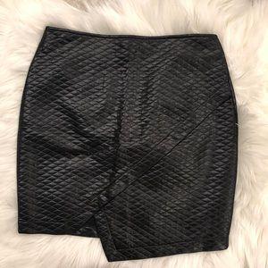 NWT Black Faux Leather Mini Skirt